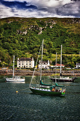 Photograph - The Green Boat At Mallaig Harbour - Portrait by Zoe Ferrie