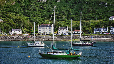 Photograph - The Green Boat At Mallaig Harbour by Zoe Ferrie