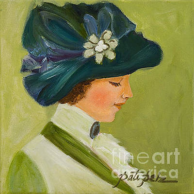 Painting - The Green Velvet Hat by Pati Pelz