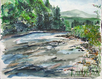 Painting - The Greenbrier River  West Virginia by Jan Anderson