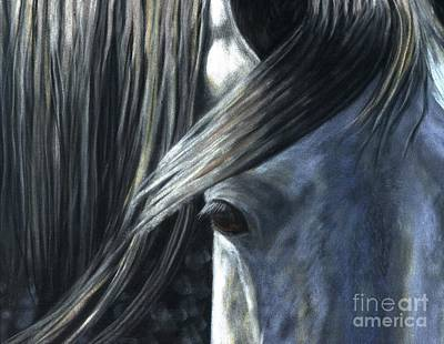 Art Print featuring the painting The Grey by Sheri Gordon