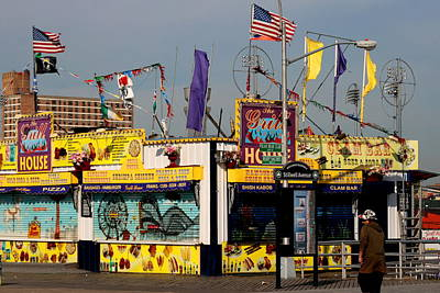 Photograph - The Grill House Coney Island by Christopher Kirby
