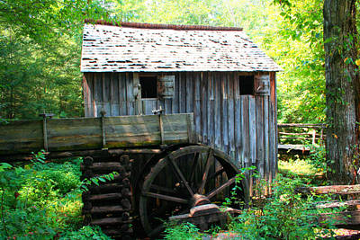 Cades Cove Photograph - The Grist Mill by Barry Jones