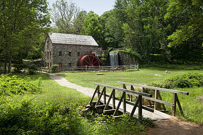 The Grist Mill Art Print by Lee Fortier