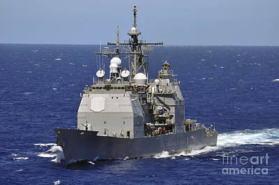 Photograph - The Guided-missile Cruiser Uss by Stocktrek Images