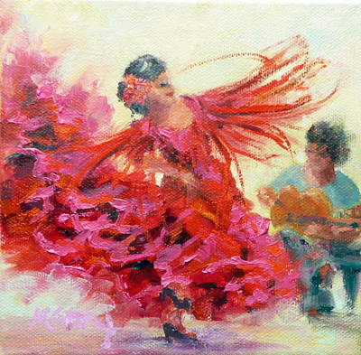 Marie Green Painting - The Gypsy by Marie Green