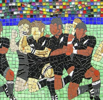 Rugby Mixed Media - The Haka Challenge by Jane Santos