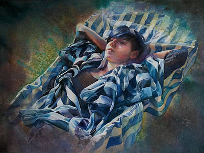 The Hammock Art Print by Gilly Marklew