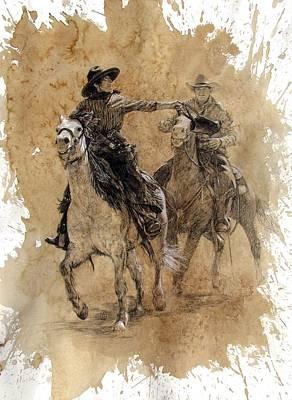 The Hand Off Art Print by Debra Jones