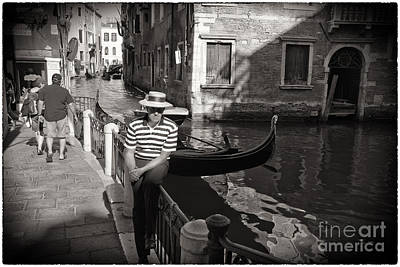 The Handsome Gondolier Art Print