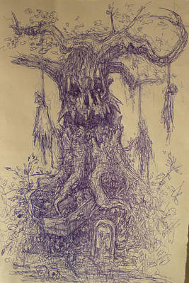 Drawing - the Hanging Tree by Ralph Nixon Jr