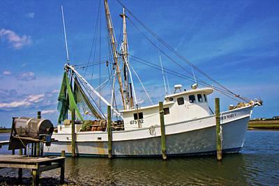Shrimp Boat Photograph - The Harbor by Betsy Knapp