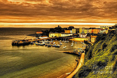 Tenby Photograph - The Harbour At Tenby  by Rob Hawkins