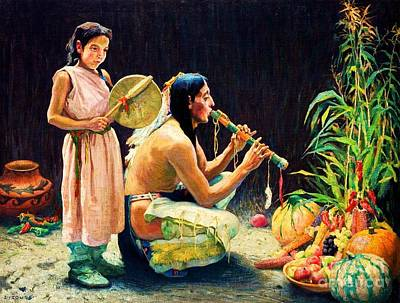 Painting - The Harvest Song by Pg Reproductions