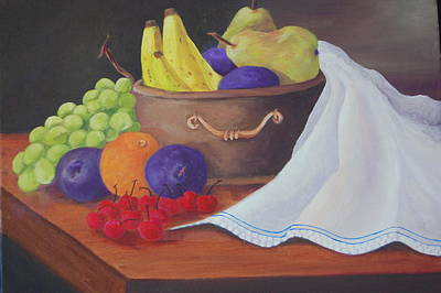 Painting - The Healthy Fruit Bowl by Janna Columbus