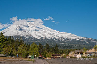 The Heart Of Mount Shasta Art Print by Carol Ailles