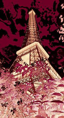 Abstract Digital Art Mixed Media - The Heart Of Paris - Digital Painting by Carol Groenen