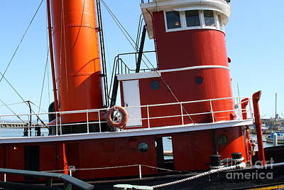 Steamboat Photograph - The Hercules . A 1907 Steam Tug Boat At The Hyde Street Pier In San Francisco California . 7d14143 by Wingsdomain Art and Photography