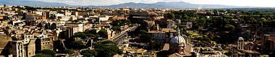 The Historic Centre Of Rome Art Print by Fabrizio Troiani