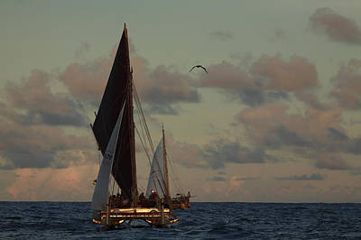 Images Of Ocean Canoes Photograph - The Hokulea, A Double Hulled Canoe by Stephen Alvarez