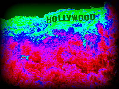 The Hollywood Sign Art Print
