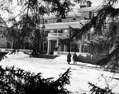The Home Of President Franklin D Art Print by Everett