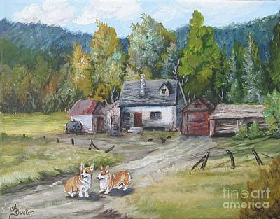 Painting - The Homestead by Ann Becker