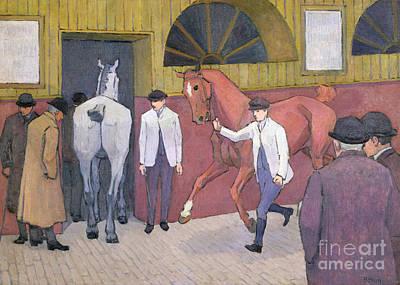 The Horse Mart  Print by Robert Polhill Bevan