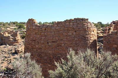 The Hovenweep Twin Towers Art Print by Cynthia Cox Cottam