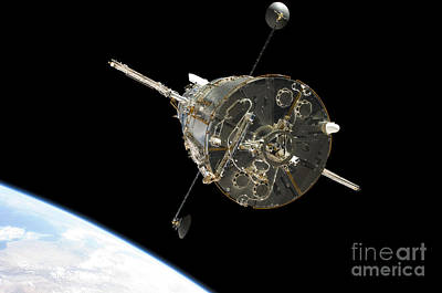 The Hubble Space Telescope In Orbit Art Print
