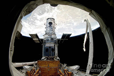 Photograph - The Hubble Space Telescope, Locked by Stocktrek Images