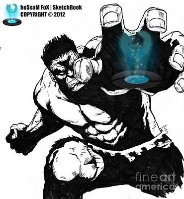 The Hulk Art Print by Hossam Fox