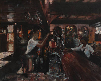 Painting - The Hussar Bar And Grill by Gavin Calf