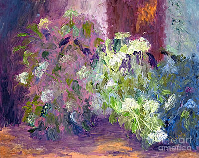 The Hydrangeas Print by Patricia Huff