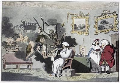 The Hypochondriac, Satirical Artwork Art Print