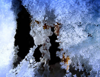 Photograph - The Ice Cave by Ellen Heaverlo