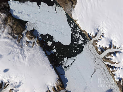 The Ice Island That Calved Art Print by Stocktrek Images