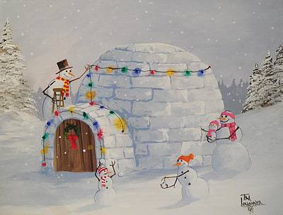 Igloo Painting - The Igloo by Tim Loughner