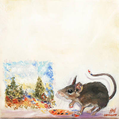 Painting - The Impressionist Mouse by Stella Violano