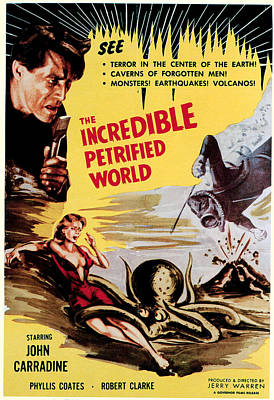 The Incredible Petrified World, Poster Art Print by Everett