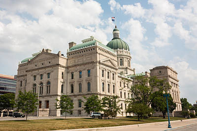 Washington Indiana Photograph - The Indiana Statehouse by Semmick Photo