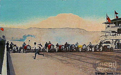 Painting - The Indianapolis Speedway Start In 1911 by Dwight Goss