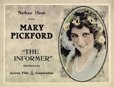 The Informer, Mary Pickford, 1912 Art Print by Everett
