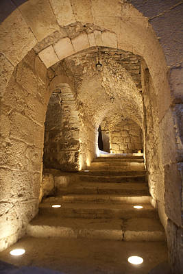 Reconstruction Photograph - The Inside Of Ajloun Castle by Taylor S. Kennedy