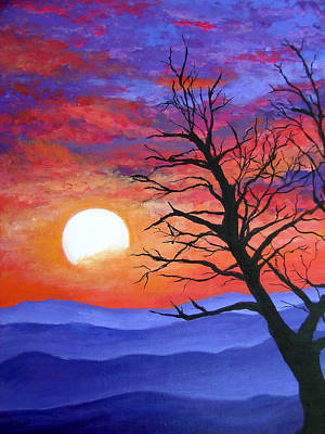 Silhouetted Against Gorgeous Painting - The Integrity Of A Tree by Amy Scholten