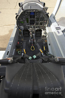 Trainer Aircraft Photograph - The Interior Cockpit Of An Iraqi Air by Terry Moore