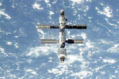 The International Space Station Is Seen Art Print