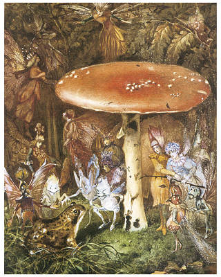 Toadstools Painting - The Intruders by John Anster Fitzgerald
