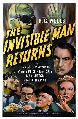 Postv Photograph - The Invisible Man Returns, Clockwise by Everett
