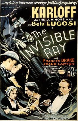 Horror Movies Photograph - The Invisible Ray, Boris Karloff, Frank by Everett